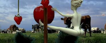 Sjon Brands vertelt dat hij een jaar gewerkt heeft aan de expositie Tuin der Tederheid. Het werk is geïnspireerd op 'De tuin der lusten' van Jeroen Bosch.
