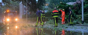 Ook locatie TweeSteden van het ETZ ondervond wateroverlast door het noodweer, want zowel in de kelder als op de begane grond liep water de gang in.