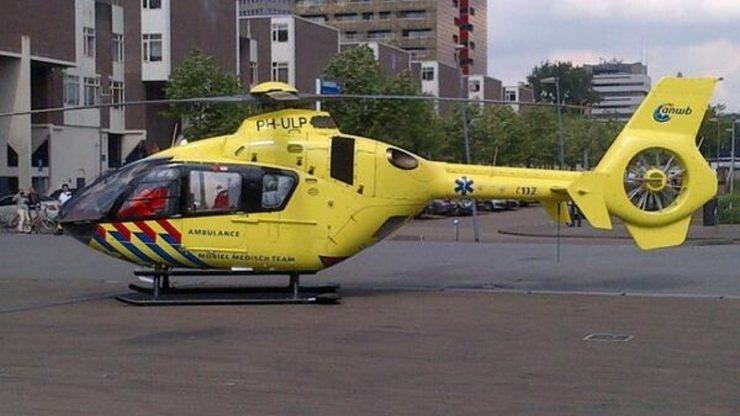 Direct na de aanrijding zijn de hulpdiensten opgeroepen, en gezien de verwondingen bij de fietser landde er ook een traumahelikopter.