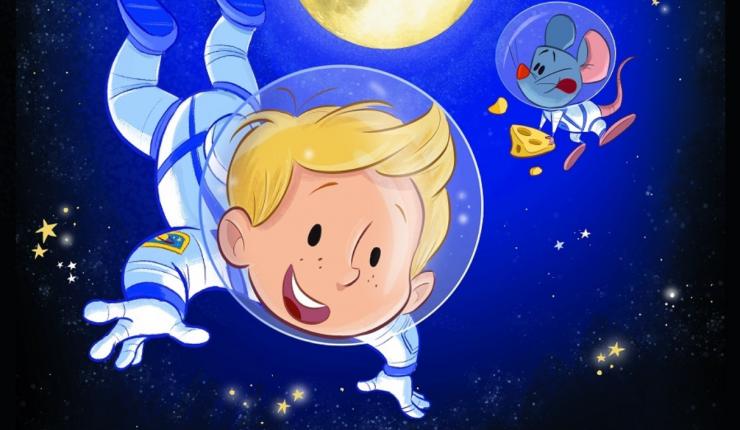 De voorstelling Het Astronautje is geïnspireerd op de ervaringen van astronaut André Kuipers. Hij woonde en werkte immers in het internationale ruimtestation ISS.