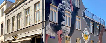 Struisvogels op de muur van Rijslust