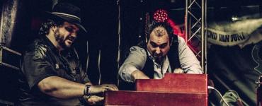 Zanger Nico de Cock en toetsenist Edwin Risbourg van de Belgische band Bluesbones zullen als Big D & Captain Keys treden 19 juni op bij Heyhoef-Backstage.